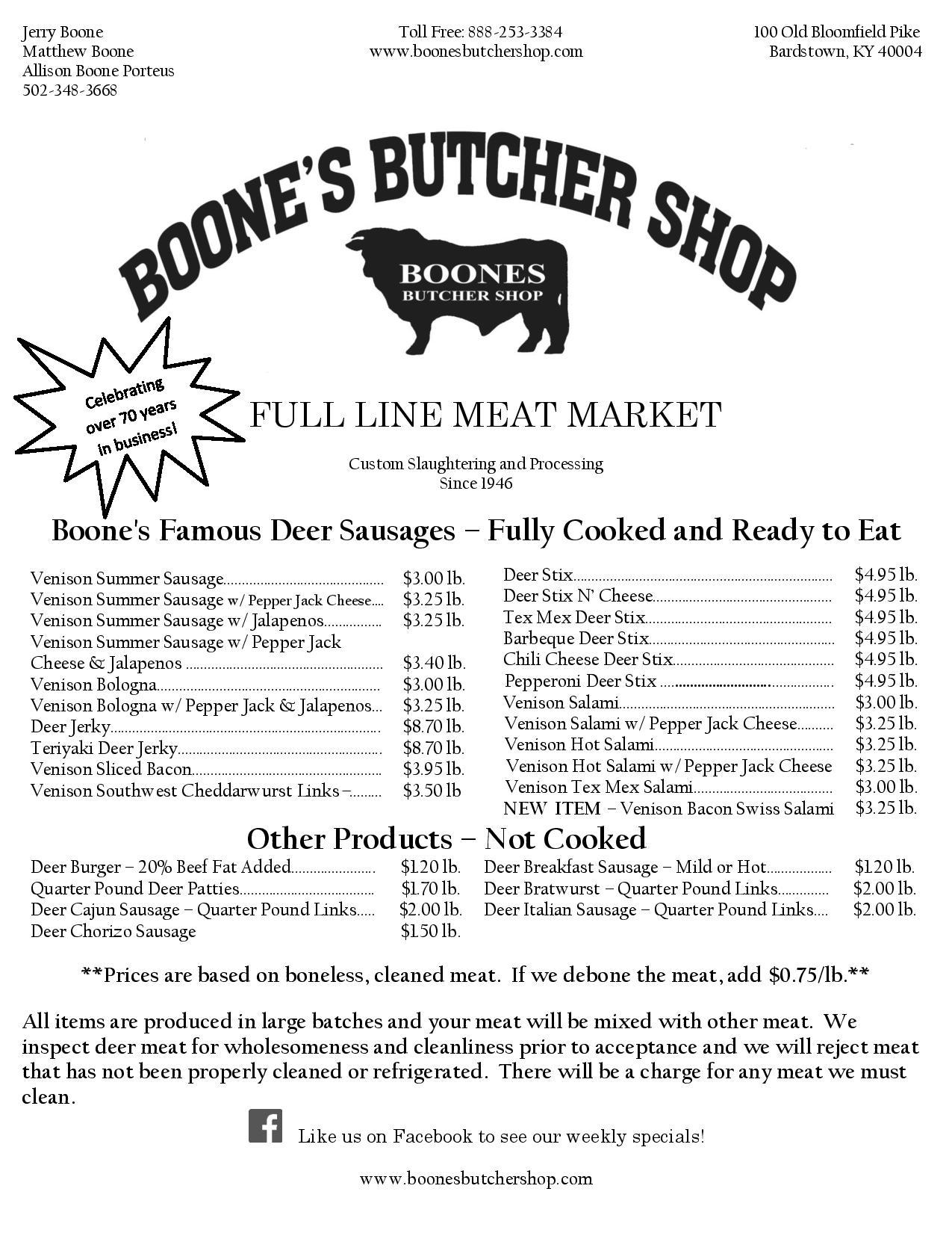 boone u0026 39 s butcher shop